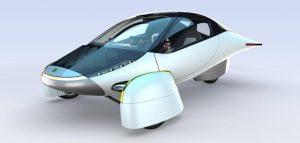 De elektrische auto driewieler Aptera